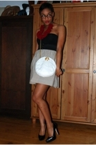 American Apparel intimate - Instant Vintage necklace - Self Made skirt - Bebe sh