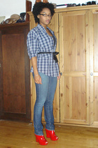 thrifted shirt - thrifted stella mccartney shirt - citizens of humanity jeans -