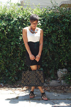 vintage shorts - Urban Outfitters shoes - self-designed necklace