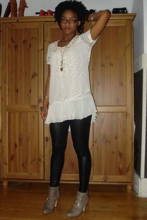 vintage dress - aa pants - Nine West shoes