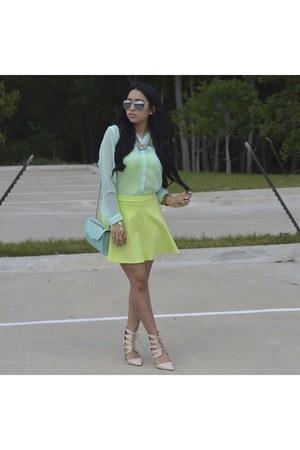 shoes - bag - Forever 21 skirt