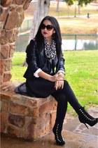 black monochromatic UrbanOG boots
