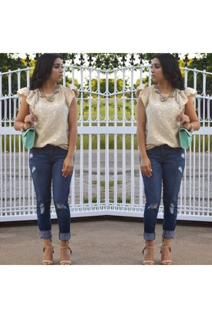 H&M blouse - Old Navy jeans