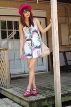 pink vintage hat - Insight dress - white vintage belt - brown Marni shoes - pink