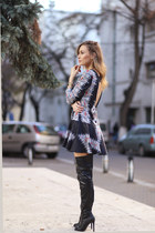 Missguided boots - romwe dress