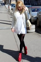 Jeffrey Campbell boots - H&M dress - Zara jacket - meli melo bag