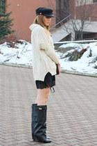 Choies boots - Choies dress - Choies hat - Romwecom sweater