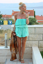 H&M scarf - Sheinside jumper - sammydress flats - PERSUNMALL accessories