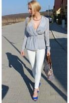 Vero Moda shirt - Zara pants - Zara heels