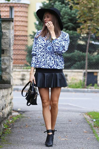 Sheinside skirt - Choies boots - romwe blouse