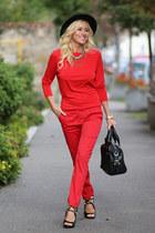 romwe bag - H&M hat - Choies sandals - Vero Moda blouse - romwe pants