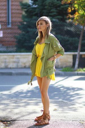 shein jacket - Zara dress - Choies sandals