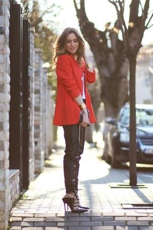 choiescom coat - Marc by Marc Jacobs bag - New Yorker pants - Topshop heels
