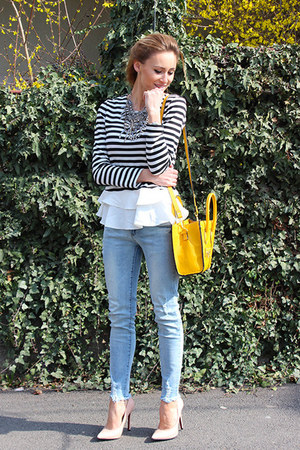 Choies jeans - Celine bag - Martofchina heels - romwe blouse