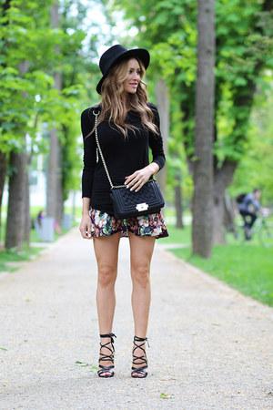 abadaycom skirt - romwe shirt - Persun Mall bag - River Island heels
