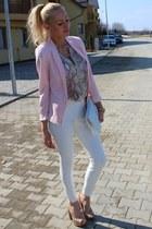 Mango blazer - H&M top - Zara pants - Bershka heels