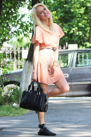 PERSUNMALL boots - Sheinside dress - romwe bag