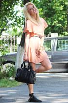 PERSUNMALL boots - Sheinside dress - romwe bag