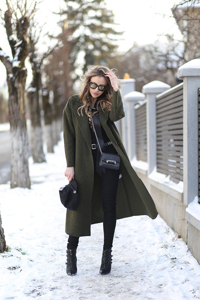 shein coat - Vero Moda jeans - dvf bag - Missguided top
