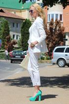 Zara blazer - Zara bag - Zara pants - il passo heels