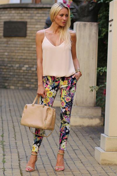 Zara top - Sheinside jeans - Zara bag - Stradivarius sandals