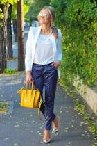 Zara blazer - Sheinside pants - Zara heels - Zara blouse