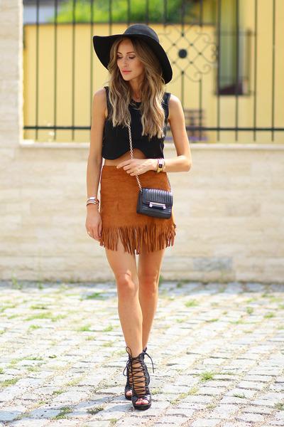choiescom skirt - dvf bag - shein top