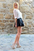 Only skirt - H&M shirt - Zara bag - Missguided pumps