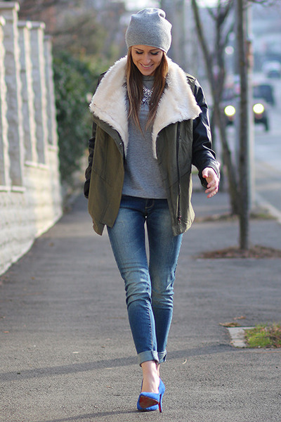 Sheinsidecom jacket - H&M hat - PERSUNMALL heels - Orsay t-shirt