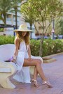Beige-h-m-hat-silver-aldo-sandals-off-white-diva-charms-romper