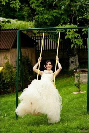 ivory soft tulle Naf Naf dress