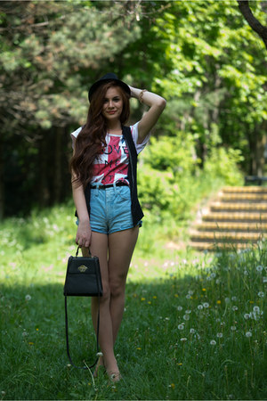 cotton Bershka hat - DIY pants - random t-shirt - Pimkie flats - H&amp;M vest