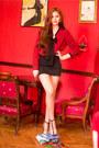 Crimson-h-m-shirt-black-pimkie-skirt-light-orange-zara-heels