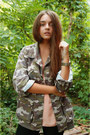 Black-h-m-jeans-army-green-new-yorker-jacket-orange-h-m-blouse