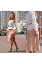 Mango sweater - Aldo heels - vintage skirt