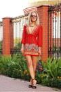 Floral-print-influence-dress-local-store-bag-sandals-zara-heels