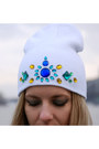 White-gem-embellished-diy-hat-blue-baroque-print-sheinside-sweater