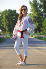 Red-diy-bag-white-zara-flats-white-blouse-red-checked-cube-diy-earrings