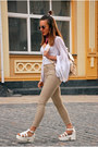 Nude-skinny-jeans-pull-bear-jeans-neutral-backpack-rosegal-bag
