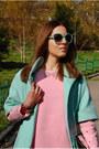 Pink-choies-dress-aquamarine-mint-kira-plastinina-coat