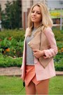 Heather-gray-chicwish-socks-light-pink-similar-here-reserved-blazer
