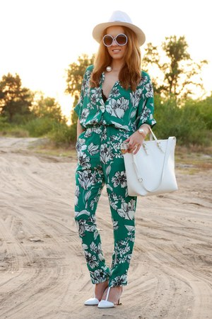 green Sheinside romper