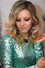 Sequin-river-island-dress-silver-bershka-heels-mermaid-diy-earrings