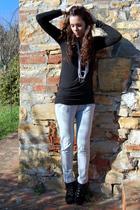 gray Zara pants - black Primadonna shoes - black local market shirt - gray Promo