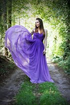 deep purple DressEmpire dress
