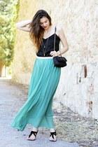 teal NIOI skirt - black Primark shirt - black Moschino bag