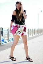 H&M shorts - peter witt purse - sarenza flats