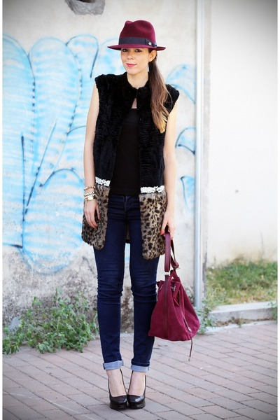 Iceberg vest - Miu Miu shoes - Cheap Monday jeans - Panizza hat - Iceberg bag