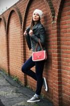 red Pomikaki bag - navy Cheap Monday jeans - dark gray Fornarina jacket