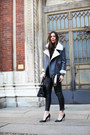 Gray-bellevior-jacket-black-balenciaga-bag-black-blanco-pants